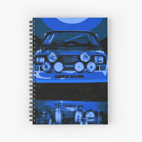 Audi Quattro S1 - Group B Rally Race Car Spiral Notebook