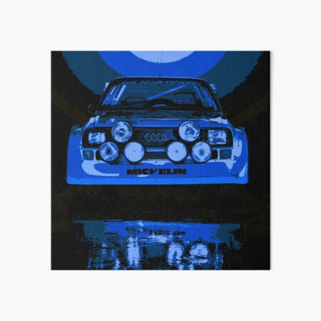Audi Quattro S1 - Group B Rally Race Car Art Board Print