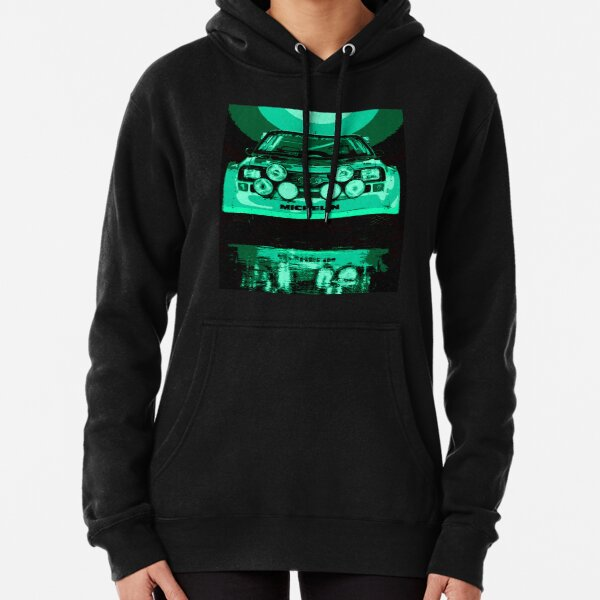 Audi Quattro S1 - Group B Rally Race Car Pullover Hoodie