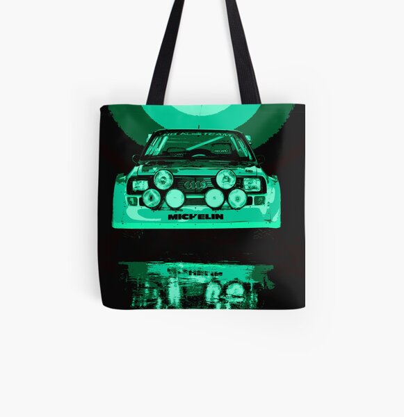 Audi Quattro S1 - Group B Rally Race Car All Over Print Tote Bag