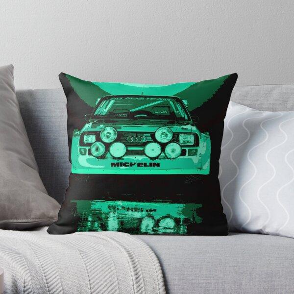 Audi Quattro S1 - Group B Rally Race Car Throw Pillow