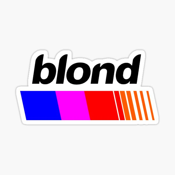 Frank Ocean Blonde Sticker