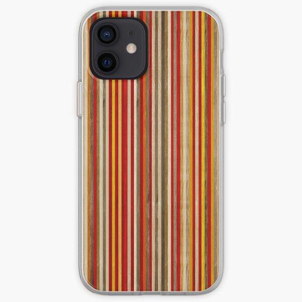 Monopatín reciclado textura de colores de otoño Funda blanda para iPhone