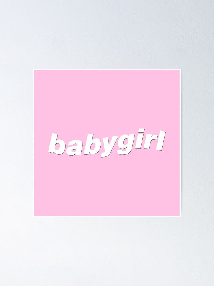 Baby Girl Cute Aesthetic Poster By Lev I Redbubble