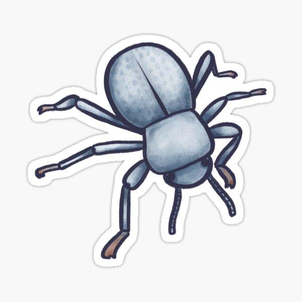 Beetle feignant la mort bleue Sticker