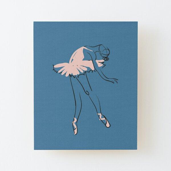 ballet dancer Wood Mounted Print
