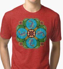 Japanese Carp Mandala Tri-blend T-Shirt