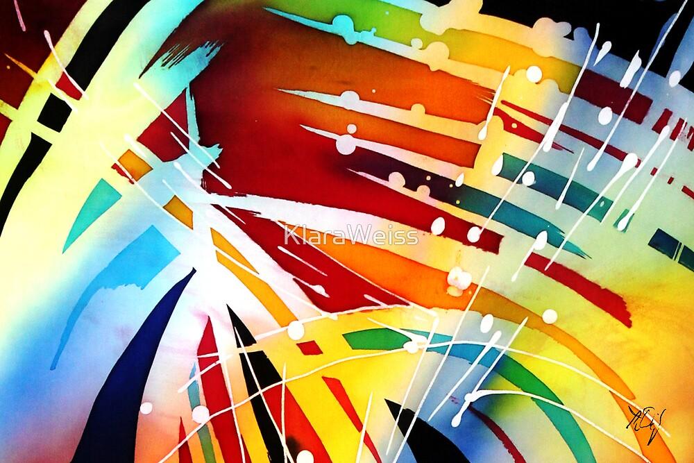 postcard edition - silk painting #14 by KlaraWeiss