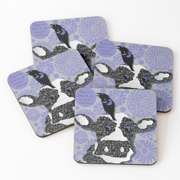 Cows Crows and Prose Coasters (Set of 4)