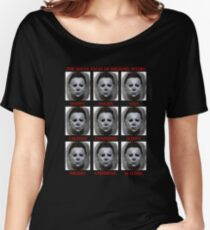 The Many Faces Of Michael Myers (Halloween) Women's Relaxed Fit T-Shirt