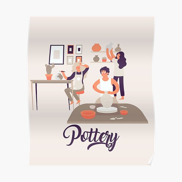 Pottery at Home Poster