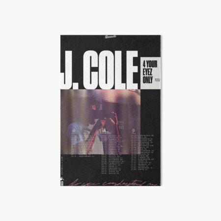 j. cole tour poster Art Board Print