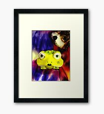 You Lookin At Me? Framed Print