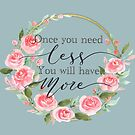 Rose wreath quote. by Theodora Gould