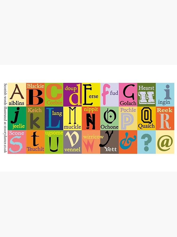 Scottish Words Alphabet by Stooryduster