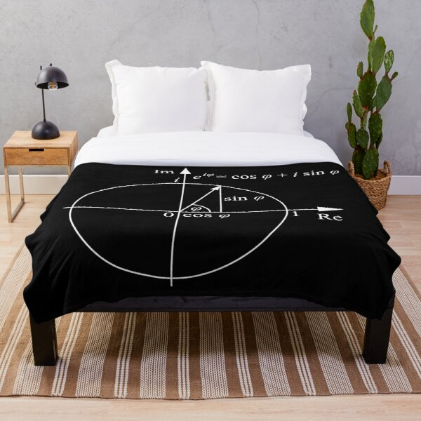 #Formula, #Mathematics, #Equation, #Imaginary, Complex Number, Mathematician, Trigonometric, Functions Throw Blanket