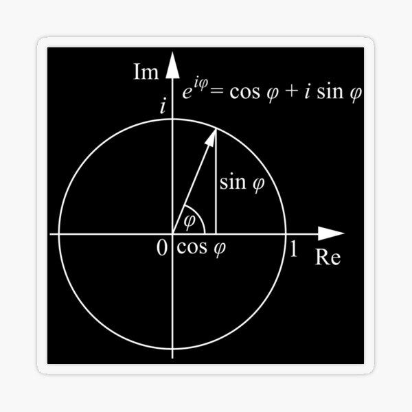 #Formula, #Mathematics, #Equation, #Imaginary, Complex Number, Mathematician, Trigonometric, Functions Transparent Sticker