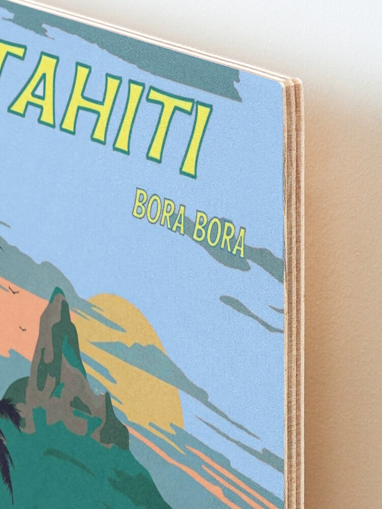 Alternate view of TAHITI : Vintage Travel to Bora Bora Advertising Print Mounted Print