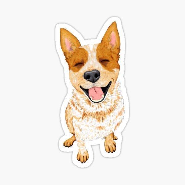 Australian Cattle Dog, Red Heeler Smile, by Artwork by AK Sticker