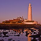St Mary's Lighthouse Just Before Sunset by Phil-Edwards