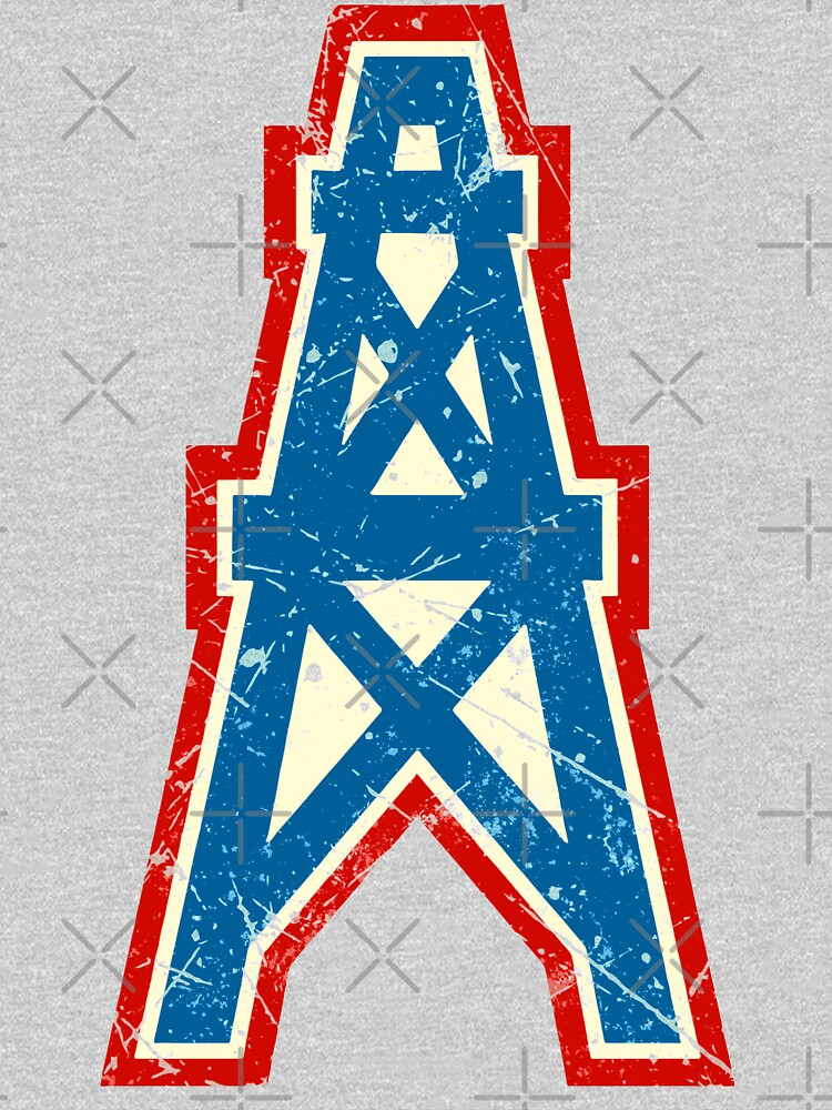 Houston Oilers Team Oil Pumpjack Logo by quark