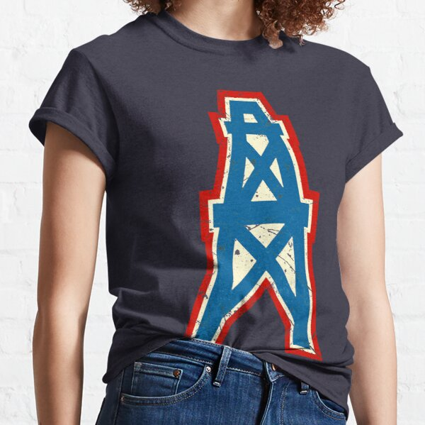 Houston Oilers Team Oil Pumpjack Logo Classic T-Shirt