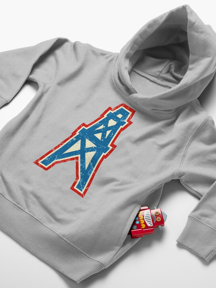 Alternate view of Houston Oilers Team Oil Pumpjack Logo Toddler Pullover Hoodie