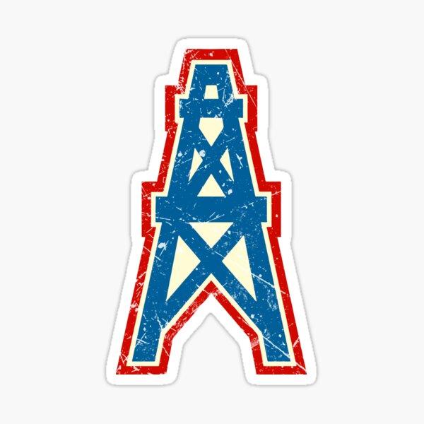 Houston Oilers Team Oil Pumpjack Logo Sticker
