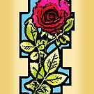 Stained Glass Rose by Ra12