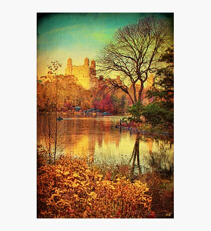 Central Park, A Vintage Fall Fantasy Photographic Print