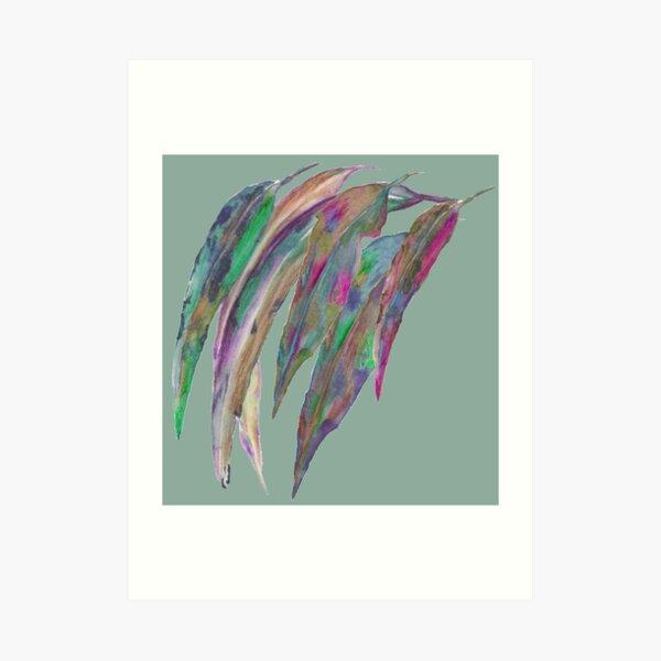 Abstract gum leaves  Art Print