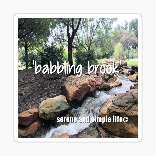 babbling brook accent pillow Sticker