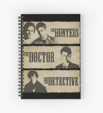 The Hunters, The Doctor and The Detective  Spiral Notebook