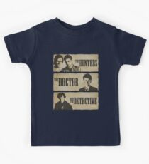 The Hunters, The Doctor and The Detective  Kids Tee