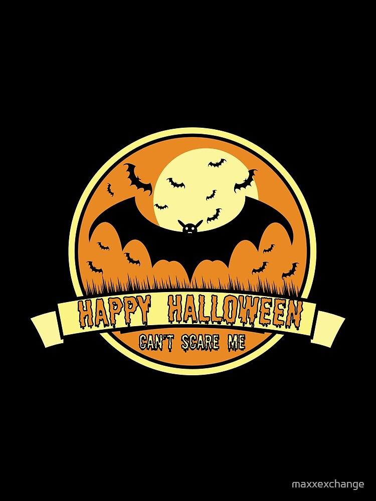 Can't Scare Me October Moonlit Spooky Vampire Bat. by maxxexchange