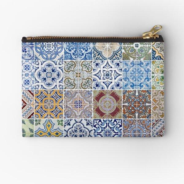 Set of 48 ceramic tiles patterns Zipper Pouch