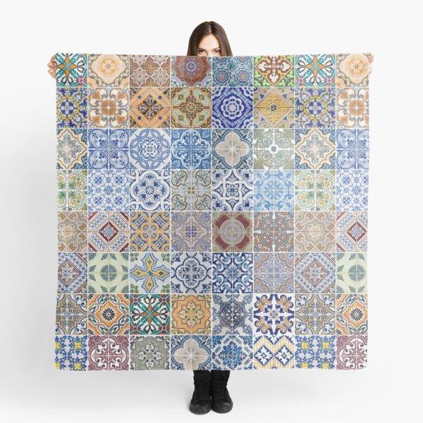 Set of 48 ceramic tiles patterns Scarf