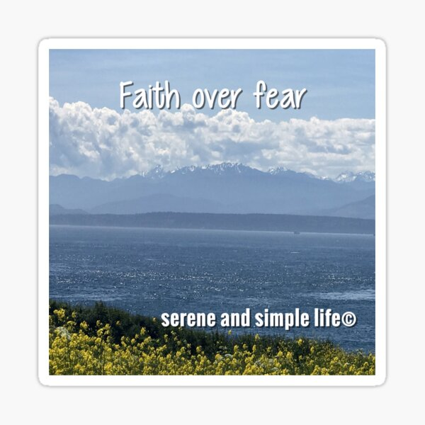 Faith over fear accent pillow Sticker