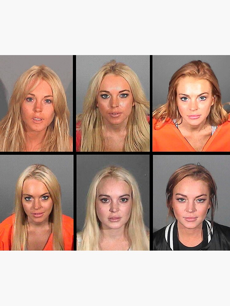 LINDSAY LOHAN MUGSHOTS by colorcollective
