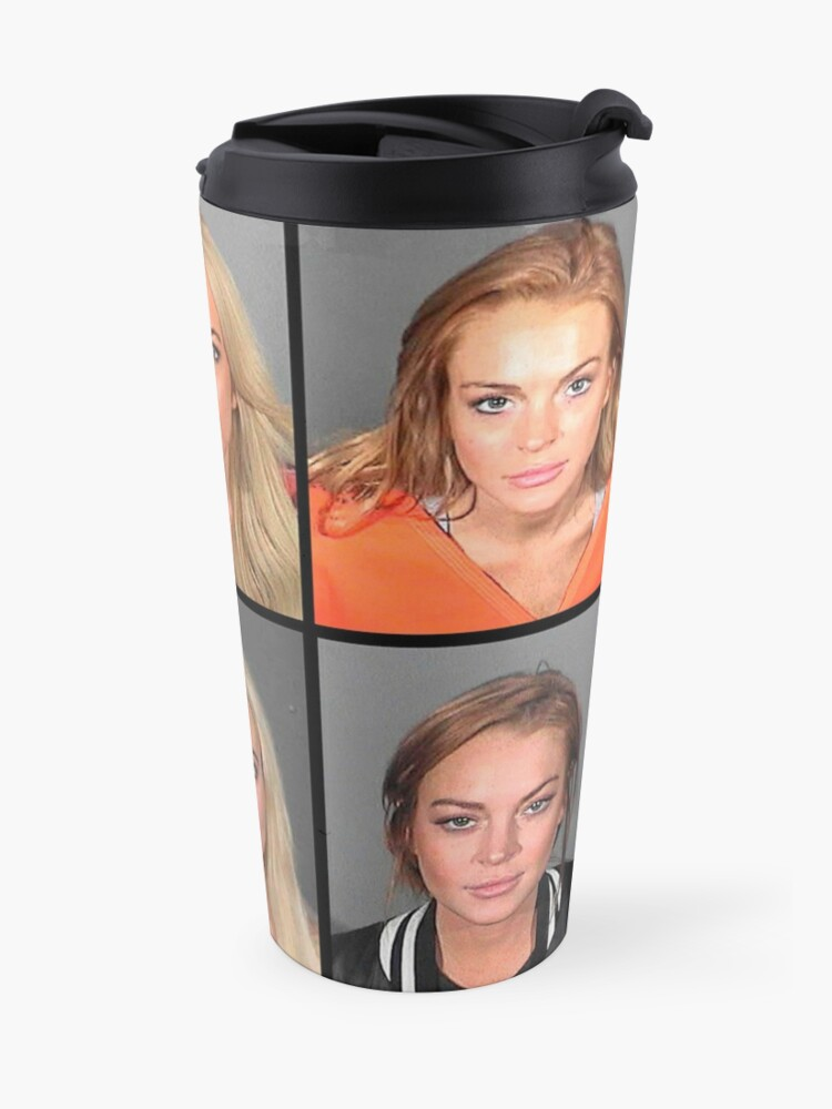 Alternate view of LINDSAY LOHAN MUGSHOTS Travel Mug