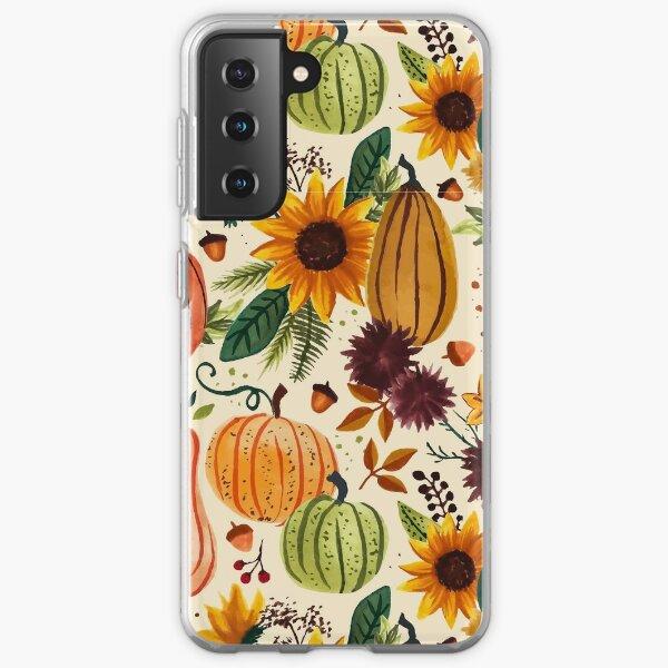 Pumpkin Watercolor Pattern Samsung Galaxy Soft Case