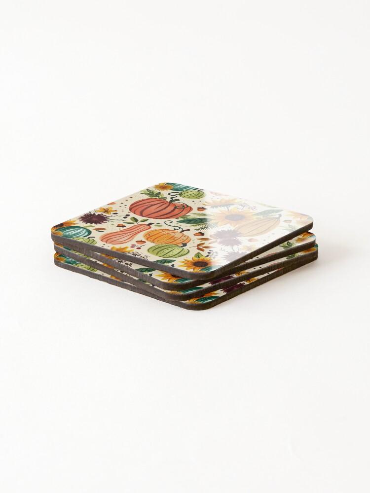 Alternate view of Pumpkin Watercolor Pattern Coasters (Set of 4)