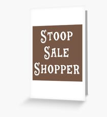 Brooklyn Gift - Stoop Sale Shopper Greeting Card