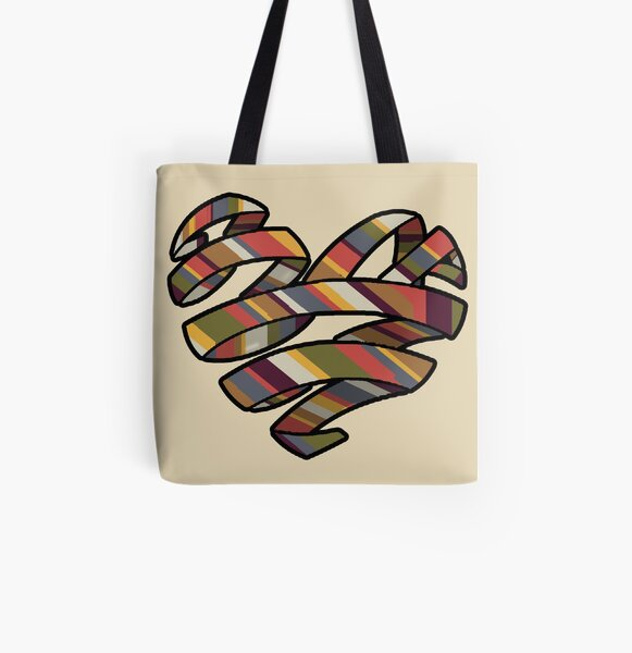 Scarf Heart All Over Print Tote Bag