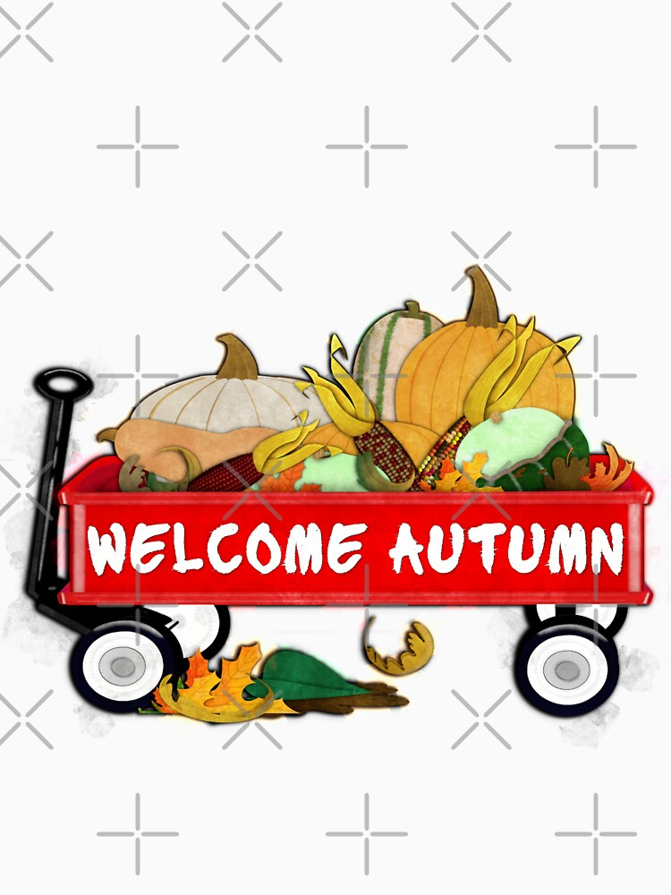 Welcome Autumn Digital Watercolor by ButterflysAttic