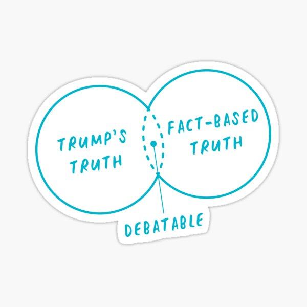 Trump's Truth Vs. Fact-Based Truth Venn Diagram Sticker
