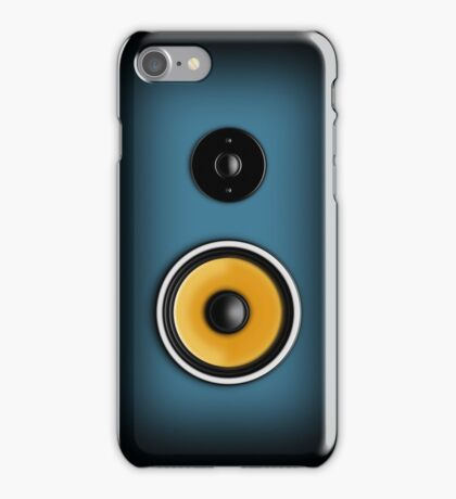 Speaker Phone Blue iPhone Case/Skin