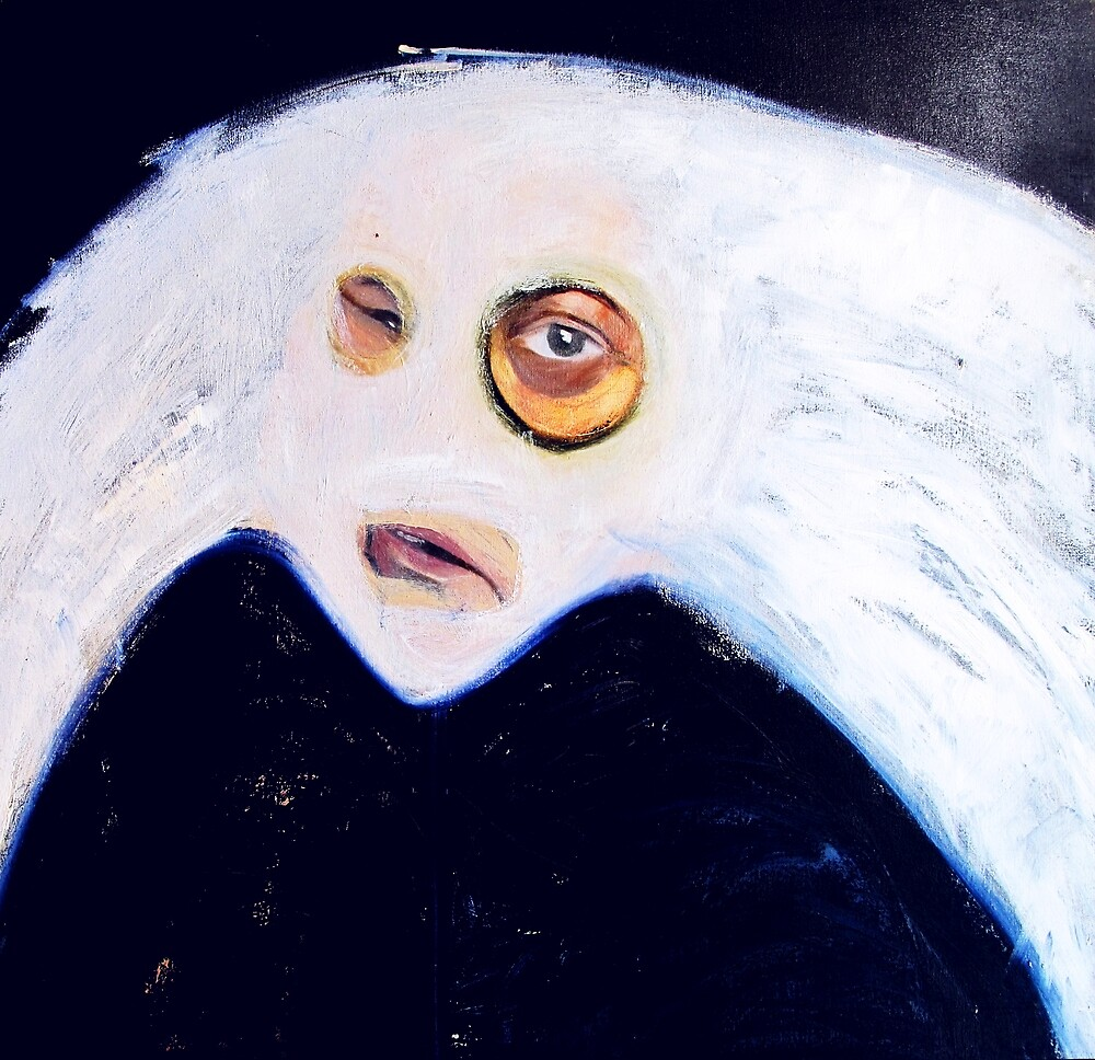 self portrait mask (blue) by donna malone