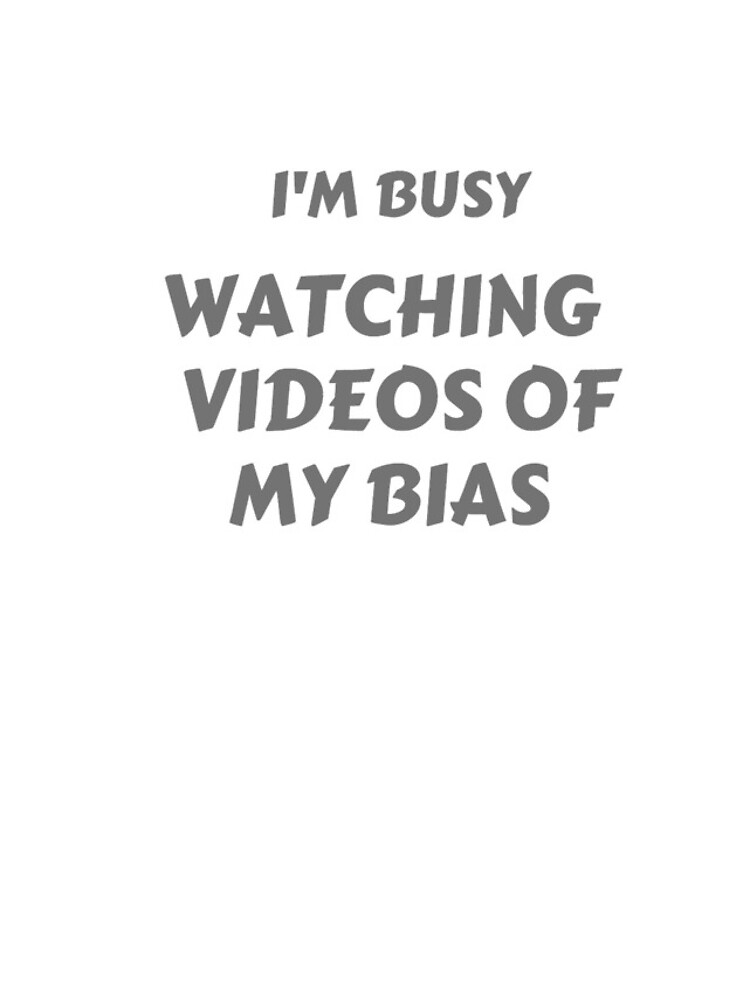 """I'm Busy"" Bias T-shirt by KoreanConven"