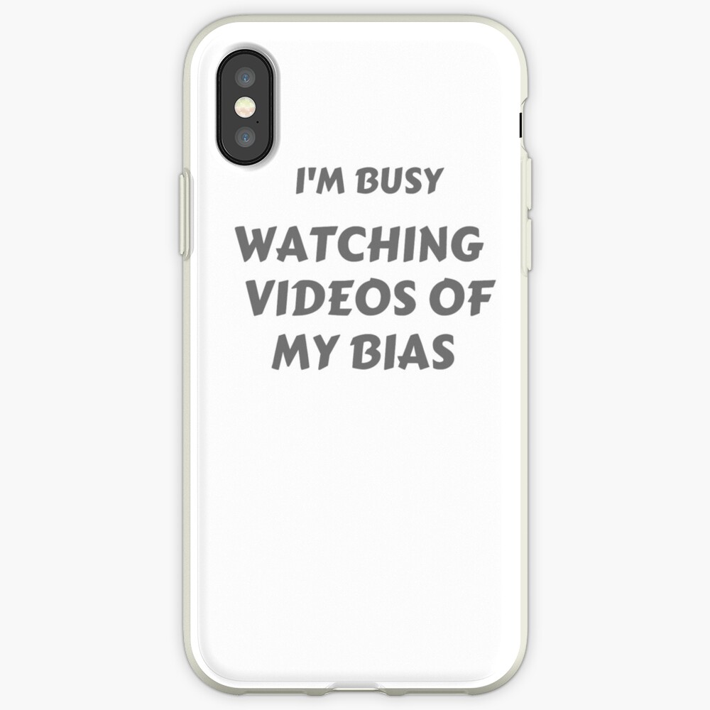 """I'm Busy"" Bias T-shirt iPhone Case & Cover"
